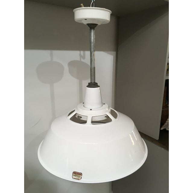 1950s Smoot Holman Industrial White Enamel Pendant Lights - a Pair For Sale - Image 12 of 13