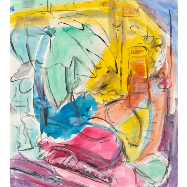 Expressionist Still Life Painting - Image 1 of 6