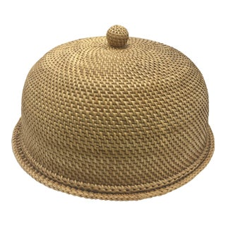 Woven Cane Dome Server For Sale