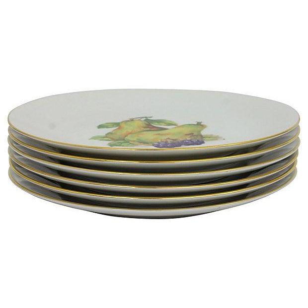 White Vintage Dessert Plates- Set of 6 For Sale - Image 8 of 9