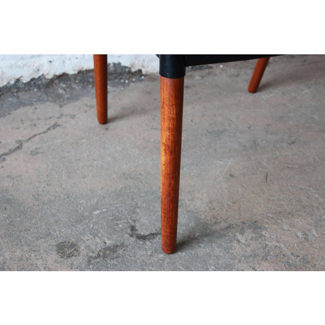 Ejner Larsen and Aksel Bender Madsen Black Leather & Rosewood Armchair For Sale - Image 9 of 9