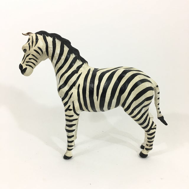 Hand Painted Leather Zebra Figure For Sale In New York - Image 6 of 10