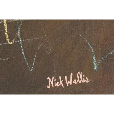 Abstract Nick Wallis, More Afterthoughts 7, Acrylic on Canvas, Signed l.r. For Sale - Image 3 of 4