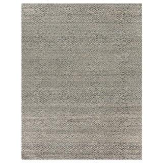 Sanz Flatweave Wool Silver Rug - 6'x9' For Sale