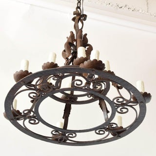 2 Tier Hand Forged Chandelier Preview