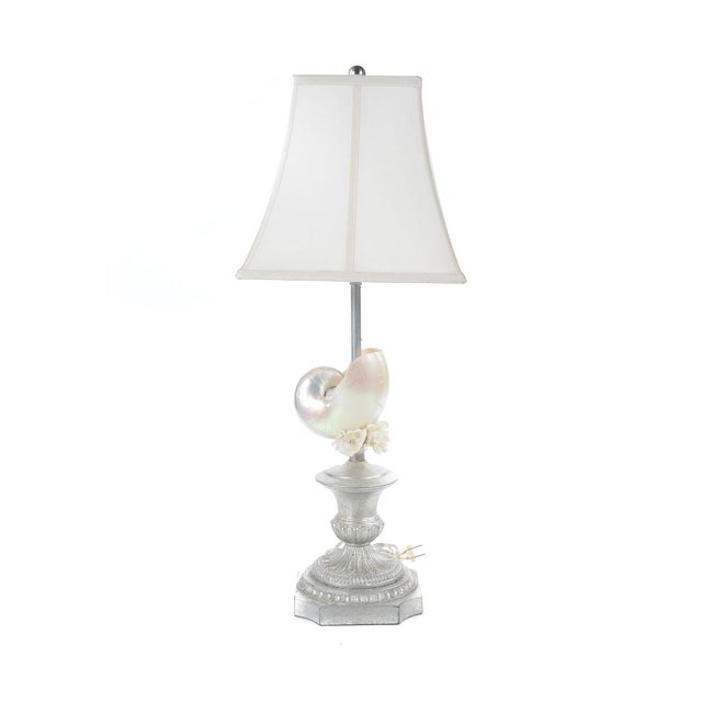 Silver Seashell Table Lamps - A Pair - Image 4 of 8