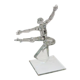 Nude Glass Male Dancer Sculpture For Sale
