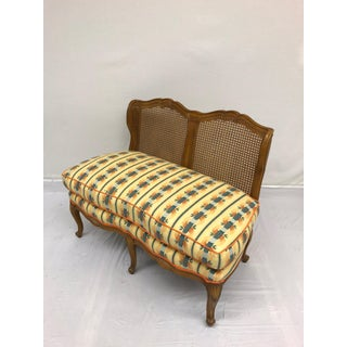 1960s Vintage Cottage Overstuffed Low-Slung Settee Preview