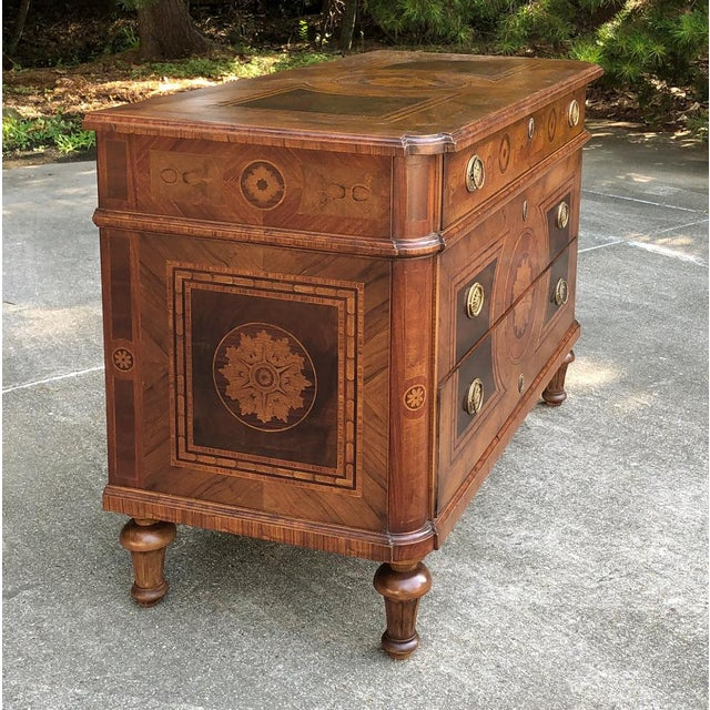 Antique Italian Marquetry Commode For Sale - Image 9 of 13