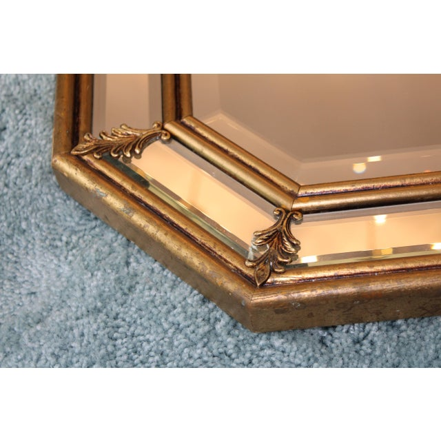 1950s Italian Gilt Octagonal Mirrors For Sale - Image 9 of 11