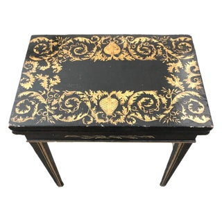 19th Chinese Miniature Penwork Card Table For Sale