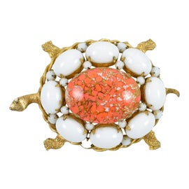 Image of Orange Brooches