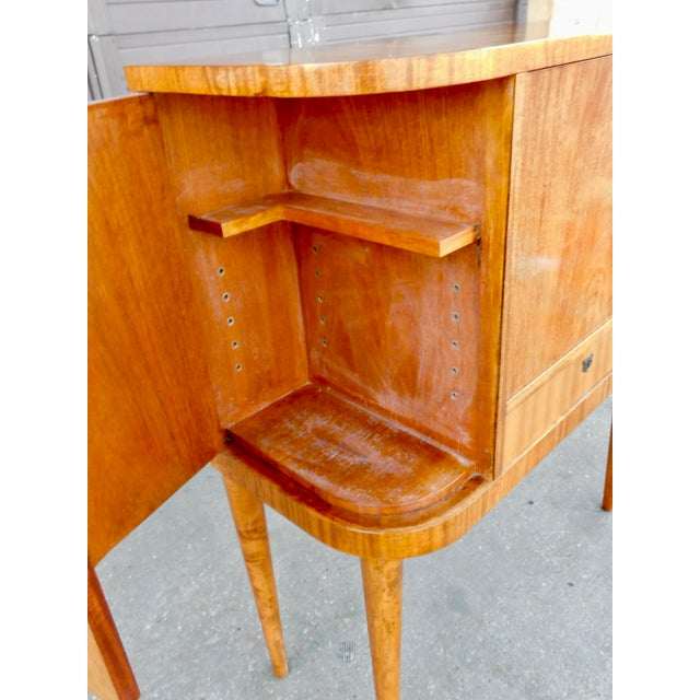 1940s Art Moderne Secretary Desk and Dry Bar in Honduran Mahogany For Sale - Image 9 of 13