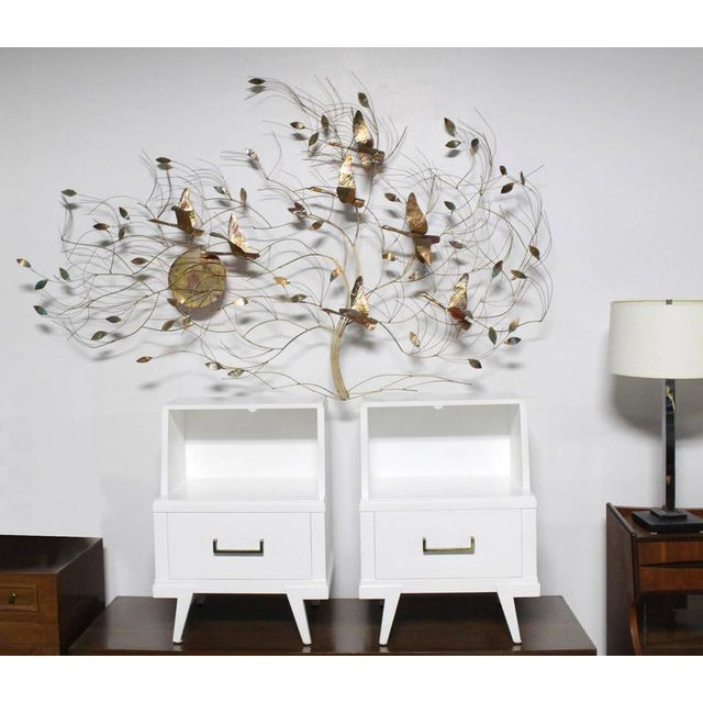 Gold Large Metal Wall Sculpture For Sale - Image 8 of 8