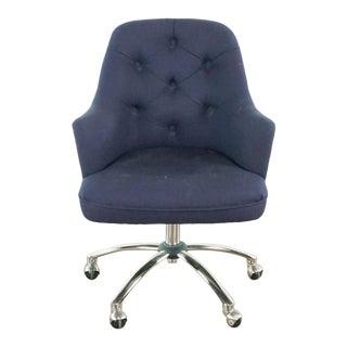 Pottery Barn Gray Upholstered Desk Chair For Sale