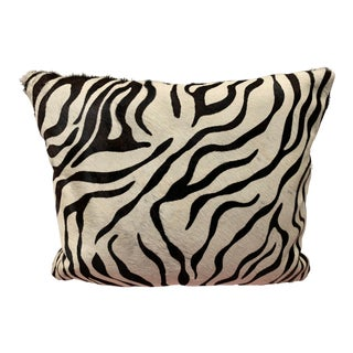 Zebra Hide Pillow For Sale