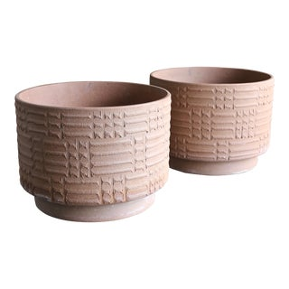Rare Pair of ' Staccato ' Planters by David Cressey