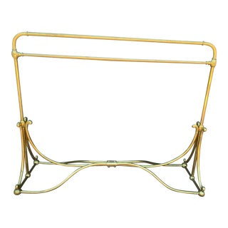 Vintage Brass Wardrobe Rack For Sale