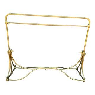 Vintage Brass Wardrobe Rack For Sale