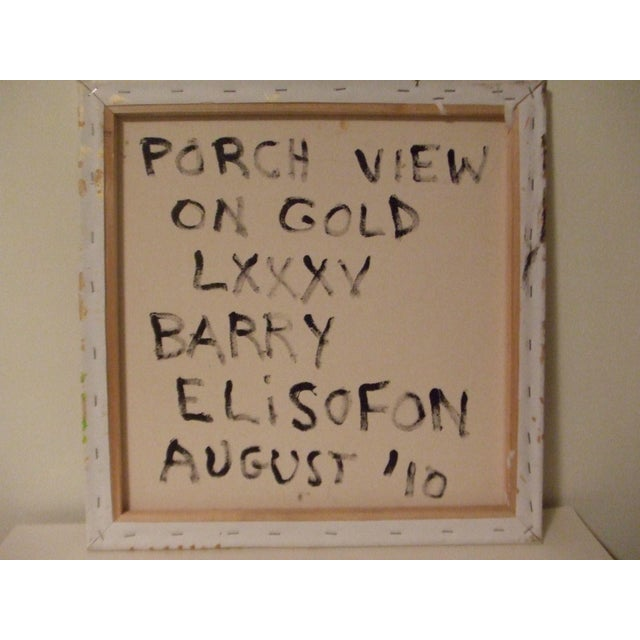"""Porch View on Gold"" by Barry Elisofon - Image 4 of 4"