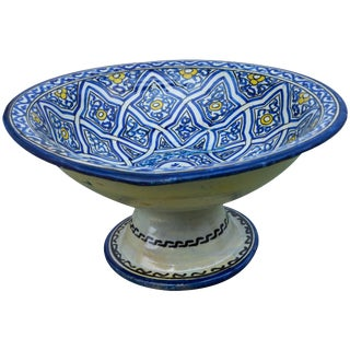Moorish-Patterned Pedestal Bowl For Sale
