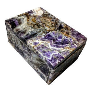 Modern Amethyst Decorative Box For Sale