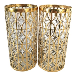Imperial 24 Karat Gold Shoji Glasses- A Pair For Sale