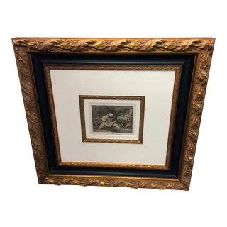 Francisco Goya Engraving With Frame Que Lorca