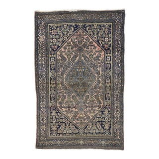 Antique Persian Bibikabad Rug - 04'05 X 06'08 For Sale