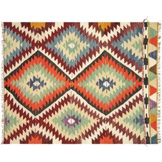 "Nalbandian - 1960s Turkish Geometrical Kilim - 3'4"" X 4' For Sale"