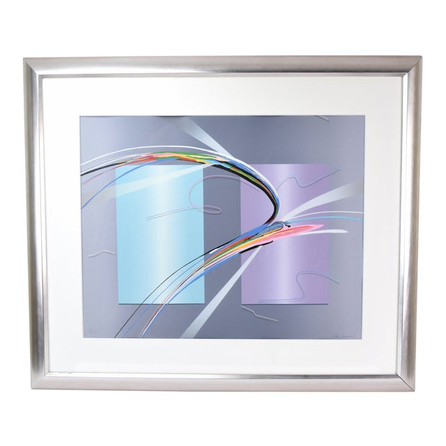 """""""Tiko"""" Modern Abstract Geometric Limited Edition Lithograph Signed Elba Alvarez For Sale"""