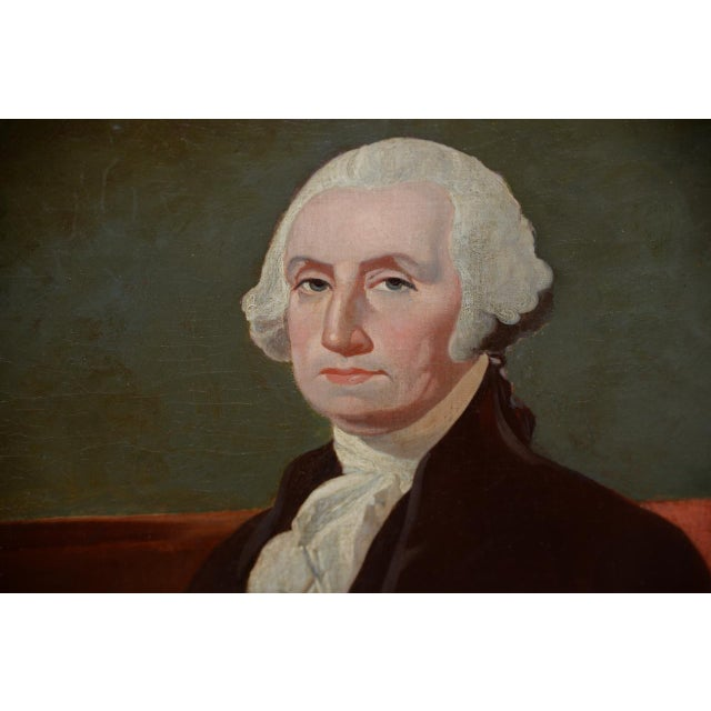 Early 19th Century Portrait of George Washington Oil Painting C.1837 For Sale - Image 9 of 11