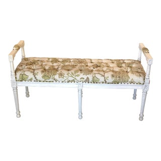 French Louis XVI Style Tufted Bench