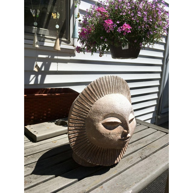 Plaster Austin Productions Inc Sun God Face Statue.Paul Bellardo For Sale - Image 7 of 10