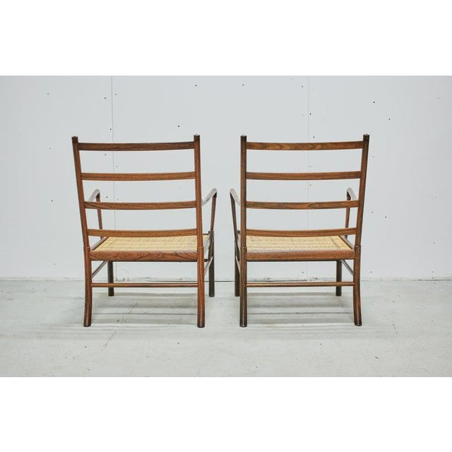 Rosewood Ole Wanscher Colonial Chairs, P. Jeppesens Møbelfabrik, Denmark, 1960s For Sale - Image 9 of 13