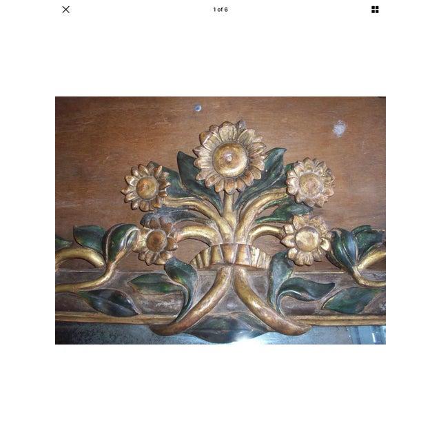 Gilt Italian Sunflower Mirror For Sale - Image 4 of 10