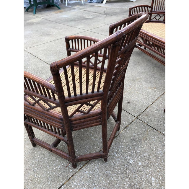 Vintage Brighton Bamboo Wicker Furniture Sofa - Set of 3 For Sale - Image 5 of 11