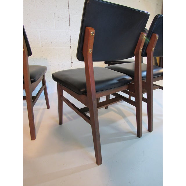 Jens Risom Series 7611 Walnut Dining Chairs For Sale In Phoenix - Image 6 of 10