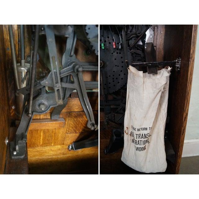 The Dewey Antique Oak Upright 5 Cent Slot Machine - Image 8 of 10