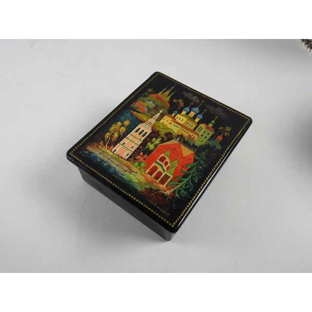 Hand Painted Russian Lacquer Box - Image 3 of 7