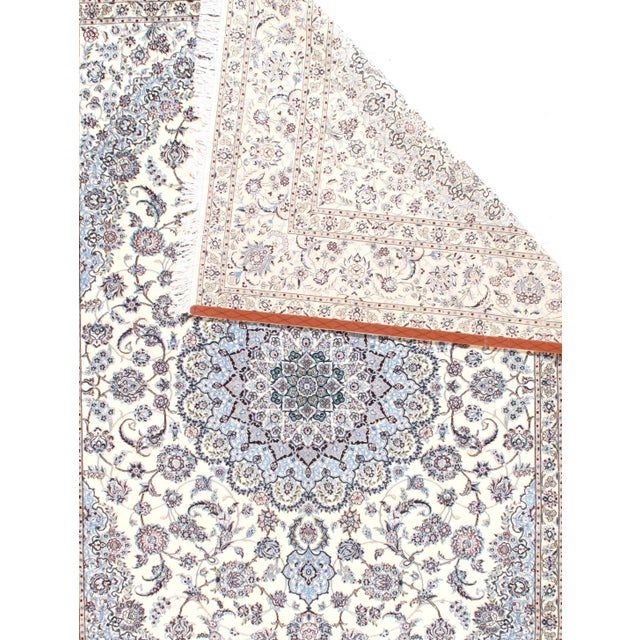 """Pasargad N Y Persian Nain 6-Lines Hand-Knotted Lamb's Wool & Silk Rug - 8'2"""" X 11'6"""" For Sale - Image 4 of 5"""