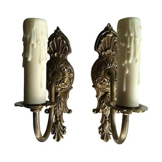 Ornate Gustavian-Style Sconces - A Pair