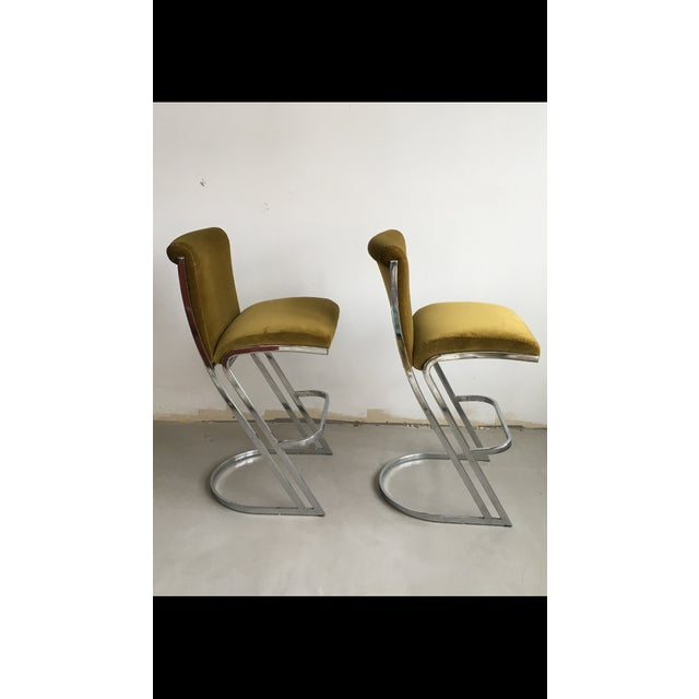 1970's Pierre Cardin Bar Stools - A Pair - Image 4 of 7