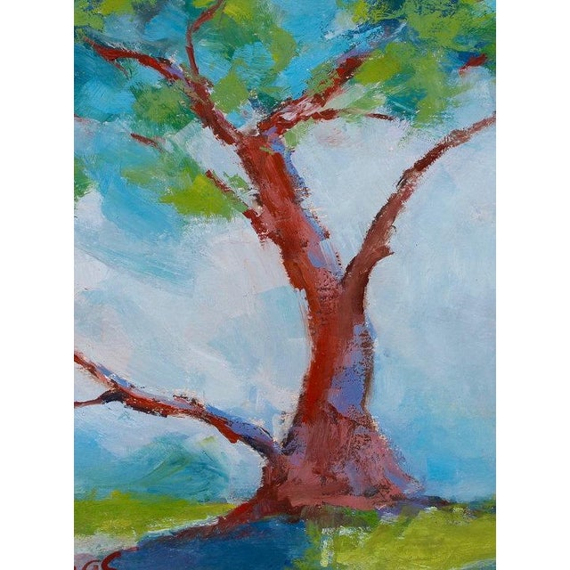Twisted Cypress Carmel Oil Painting For Sale - Image 4 of 6