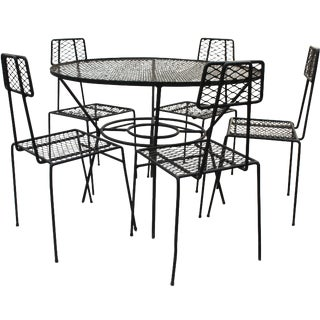 Salterini Style Mid-Century Patio Dining Set - 6 pc.