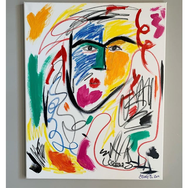 """2010s """"He is a Queen"""" Abstract Face Painting For Sale - Image 5 of 5"""