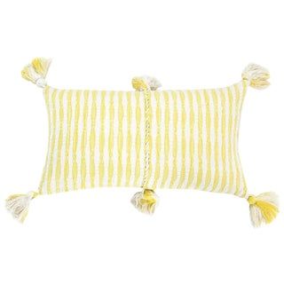 Faded Yellow Stripe Antigua Pillow