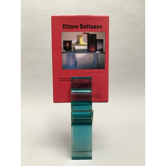 Pop Art Oversized Teal Lucite Clothespin Paperweight or Paper Holder For Sale - Image 3 of 13