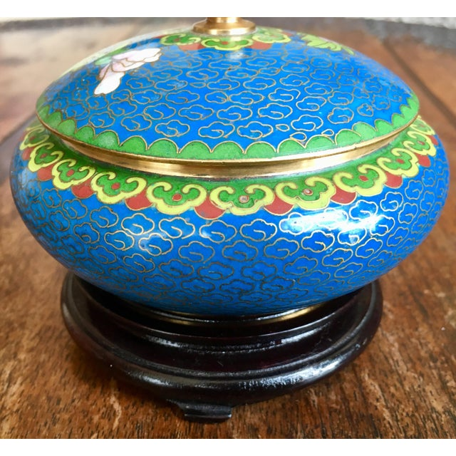 1970s Chinese Cloisonne Trinket Box For Sale - Image 12 of 13