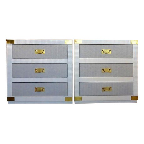 Gray & White Nightstand Chests - A Pair - Image 1 of 8